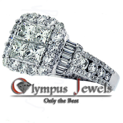 4.85CT F-G VS1-VS2 CERTIFIED DIAMOND VINTAGE RING 18KW